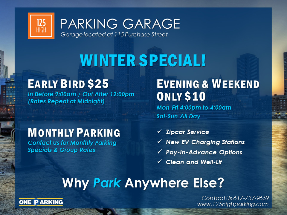 125 High Street Parking Garage Winter Special Nearsay