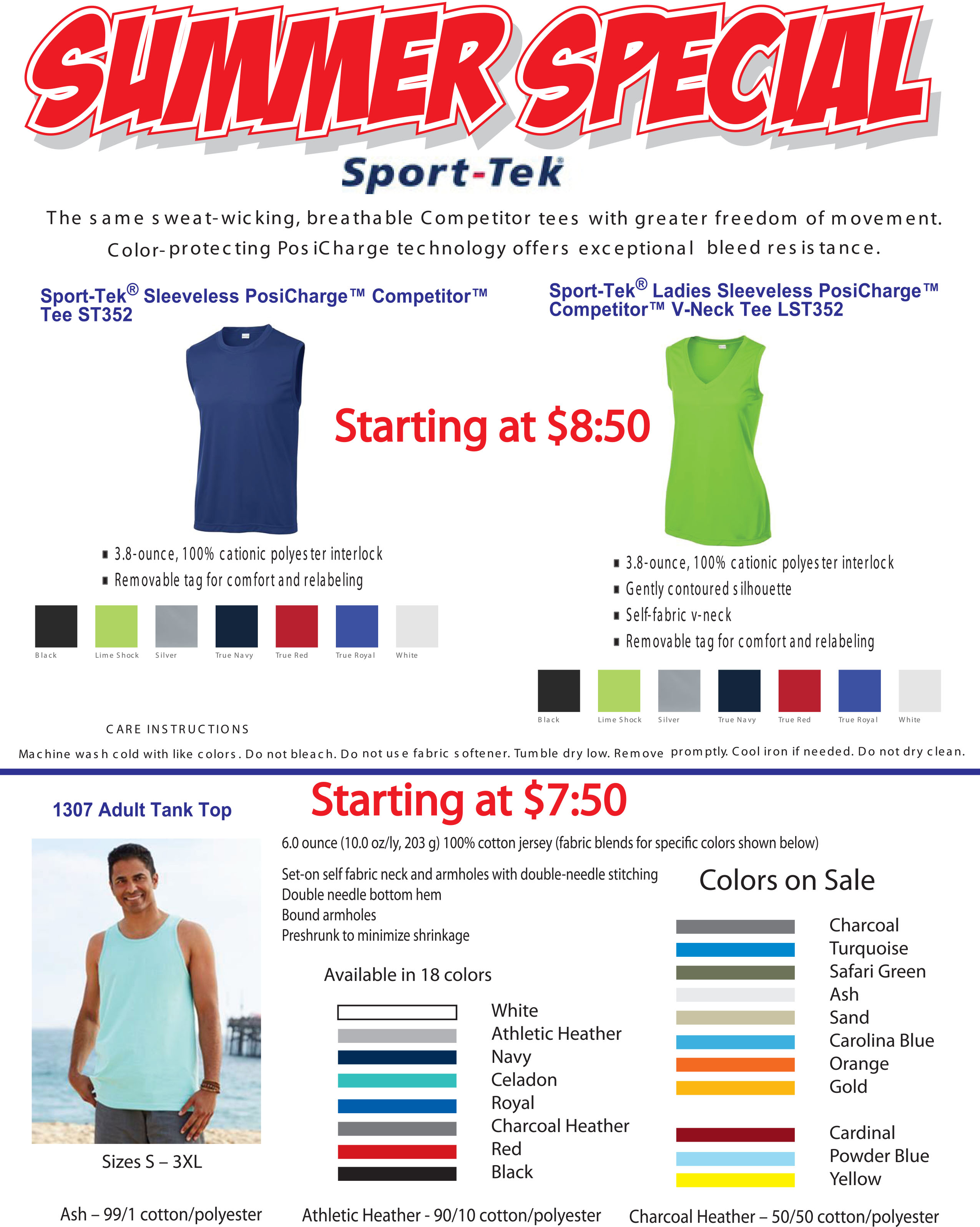 Summer Special on Tanks at Creative Arts Hawaii - Creative Arts