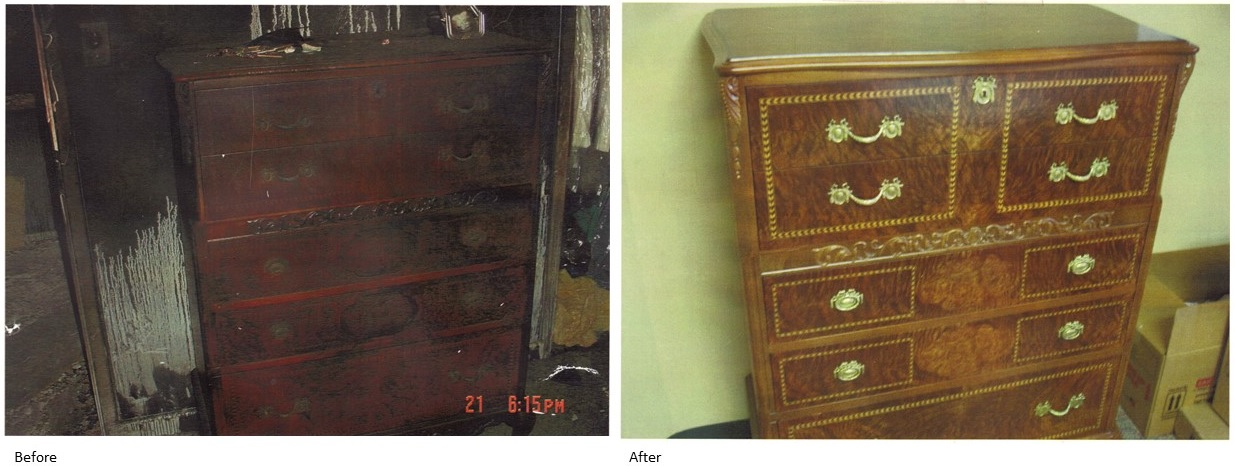 Smoke damage from fires can be especially harsh on wood and fabric  but  delicate hand refinishing will save your family heirlooms. Cincinnati s Furniture Repair Shop Will Bring Your Fire   Flood