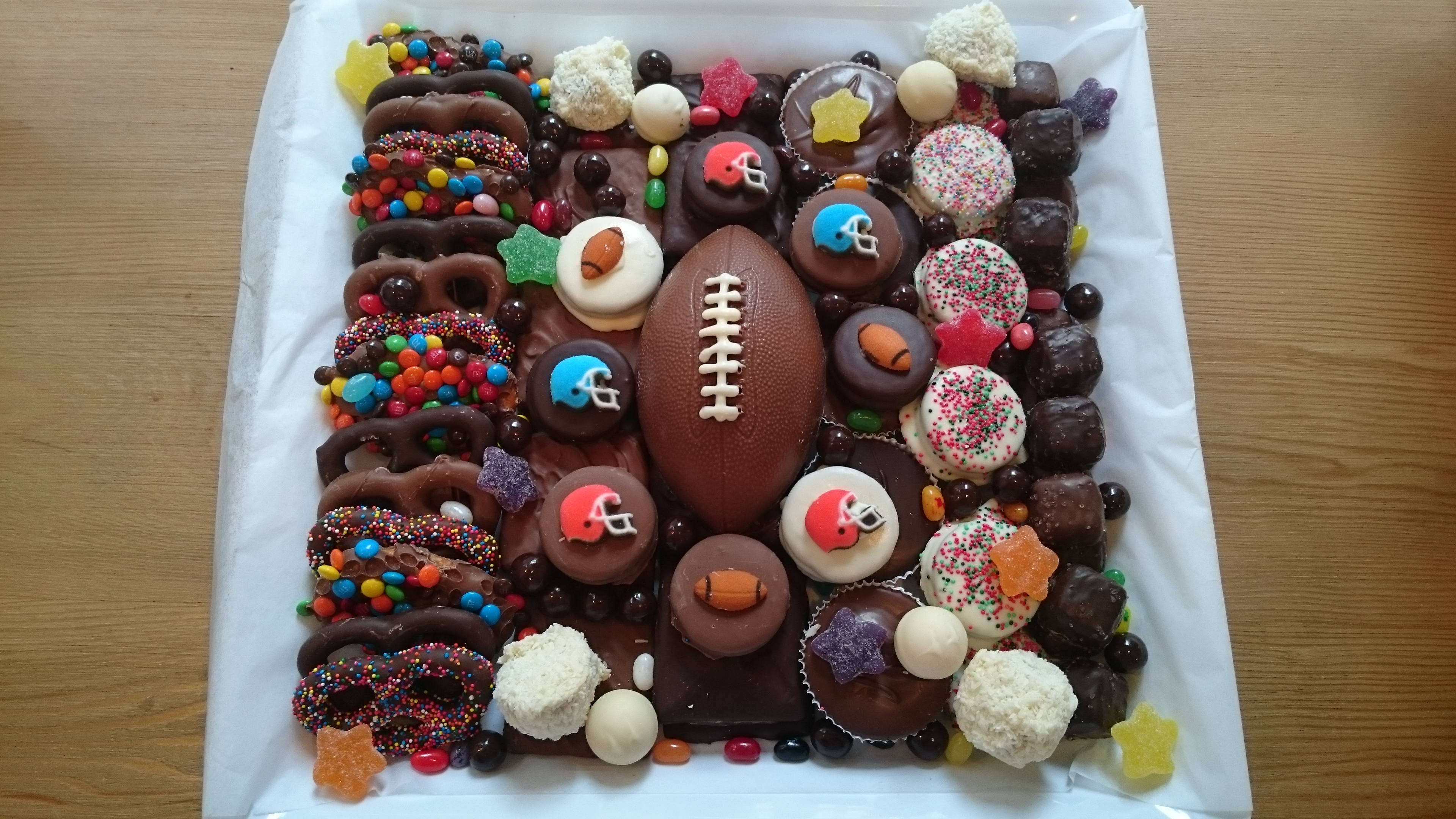 Score big with a Superbowl party platter from Chocolate Works ...
