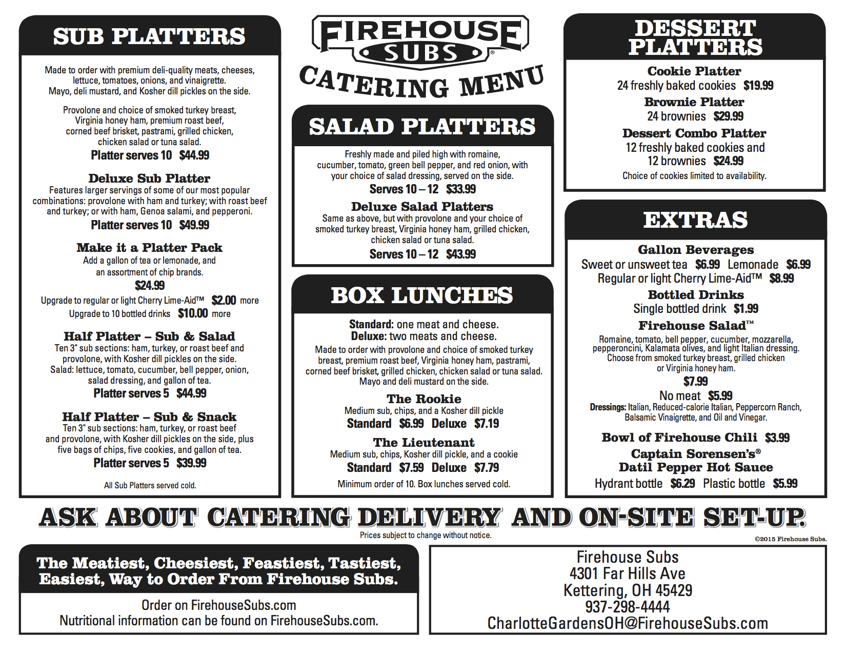 Firehouse Subs Kettering Now Caters Firehouse Subs