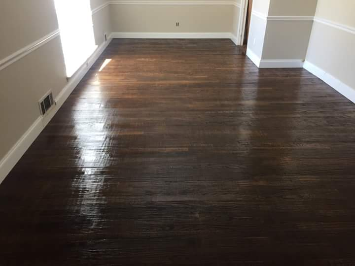 ... stripped the wax off of the floor, and then cleaned the floor. Then we  put on a polyurethane coat back on the floor. The wood floor now looks  brand new! - Make Your Wood Floors Look Brand New - Zachary Carpet Care