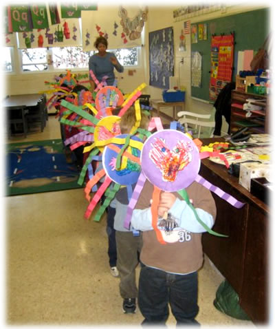 Art Crafts Reflect Student Learning In The Crayon Box Preschool