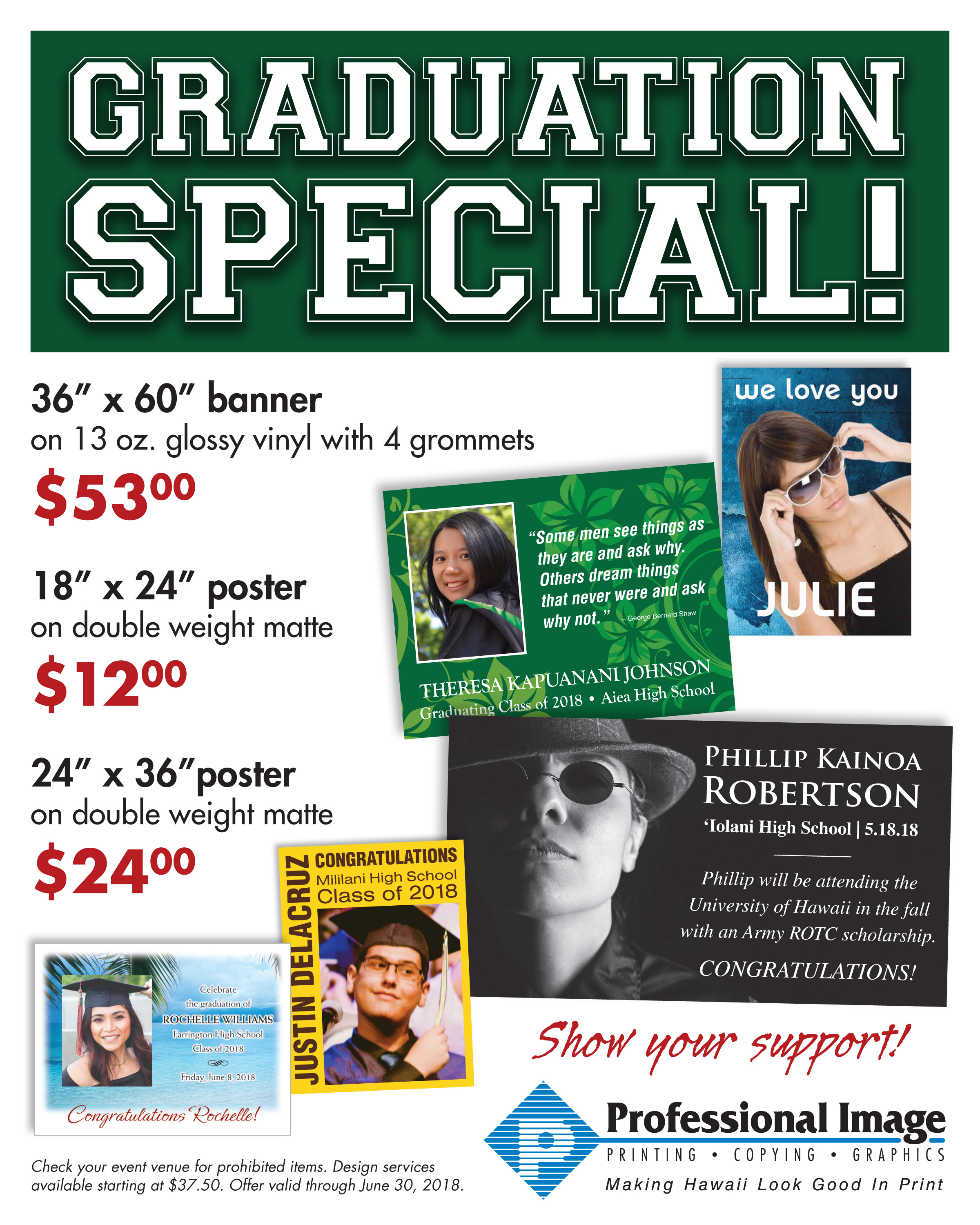 save on graduation banners and posters until june 30th