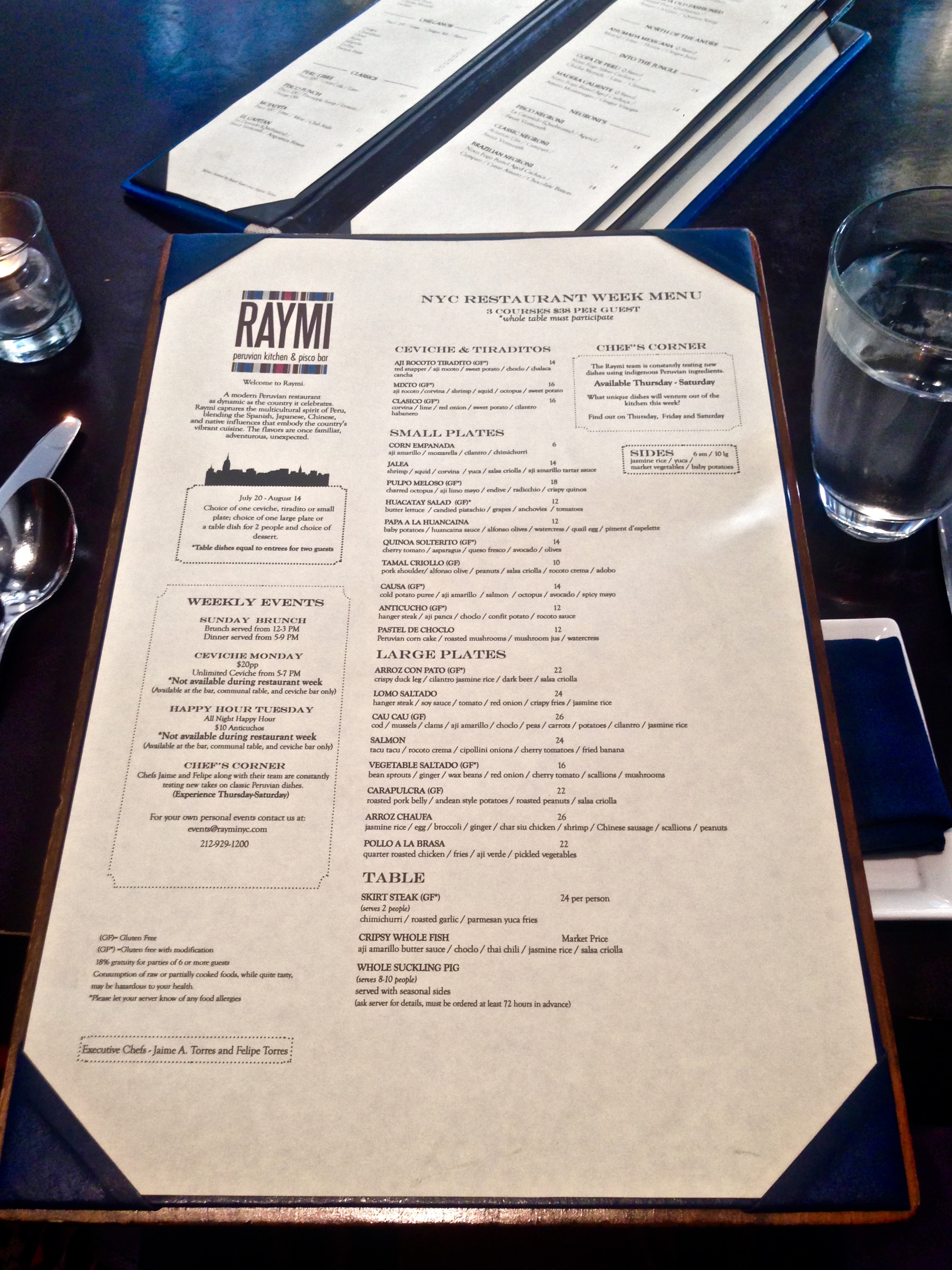 Restaurant Week: Dinner at Raymi - NYC Seminar and Conference Center ...