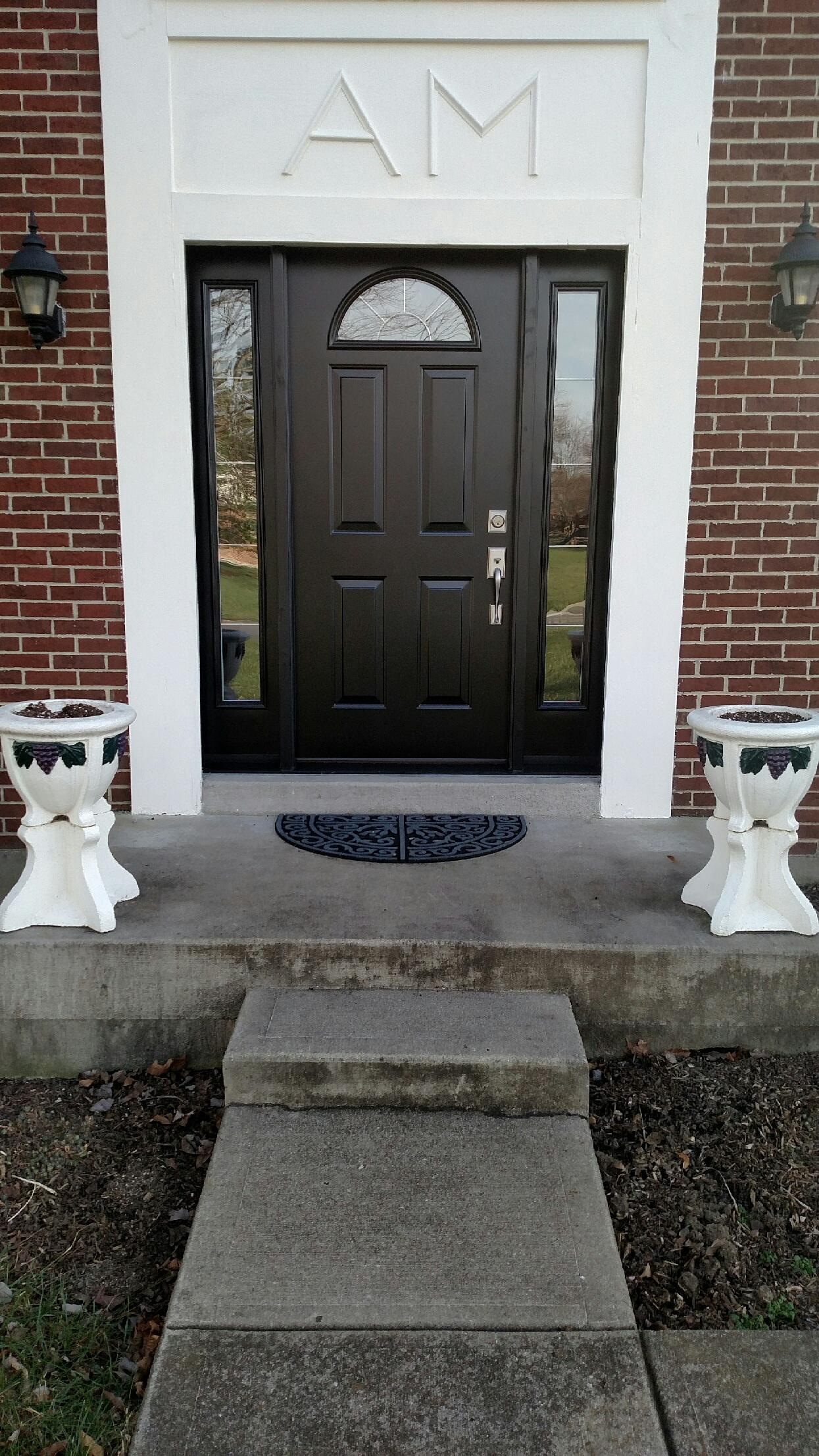 Hereu0027s JFK Window And Dooru0027s Door For Front Door Friday: A Provia Legacy  Smooth Steel Entry Door With Sidelights. JFK Window And Door Did This Door  ...