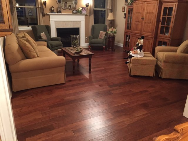 Hand Scraped Ceramic Floor Tile Brings The Look Of Wood To Your
