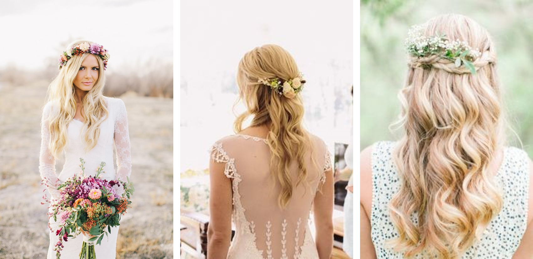 Wedding hair trends tips nyglamclub new york nearsay loose beach waves are great for the bride who is looking for a romantic wedding hairstyle pair this look with some flower crowns or fresh flowers izmirmasajfo