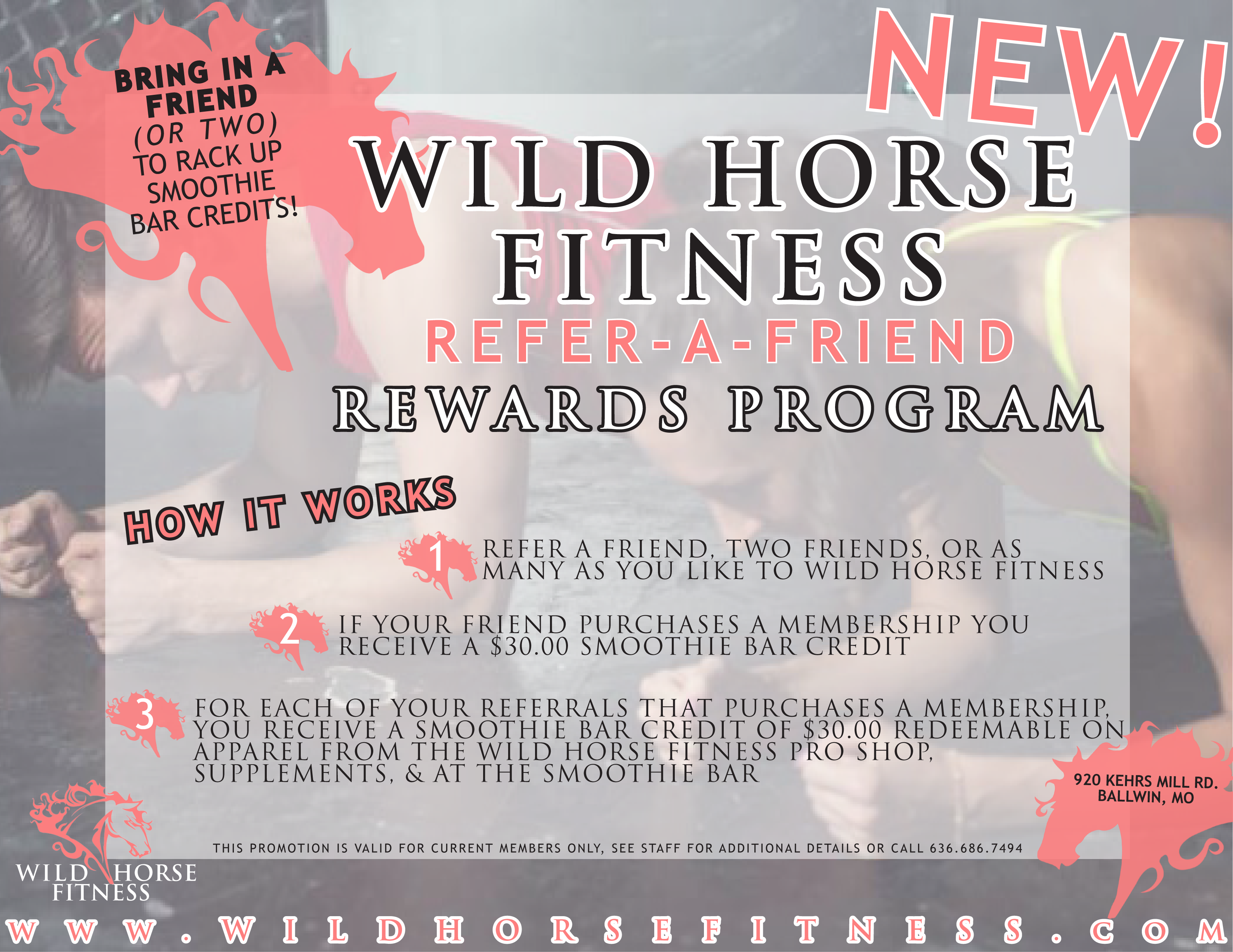 How To Get Smoothie Bar Credits At Wild Horse Fitness Wild Horse Fitness Ballwin Nearsay