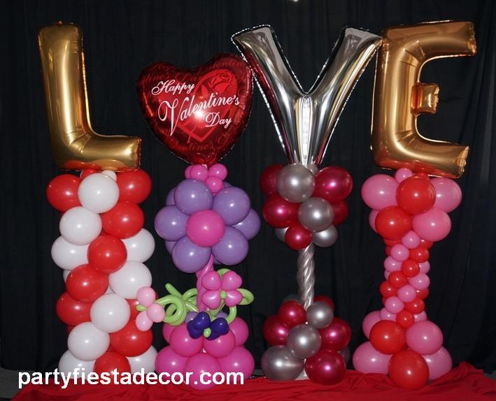 Valentine 39 s day fever party fiesta balloon decor for Balloon decoration for valentines day
