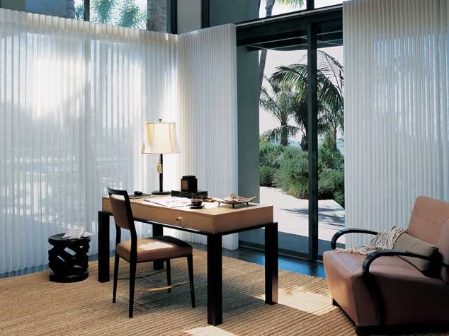 Luminette® Privacy Sheers: If Your Home Office Features Wide Windows Or  Sliding Doors, Youu0027ll Want To Consider Luminette® Privacy Sheers.