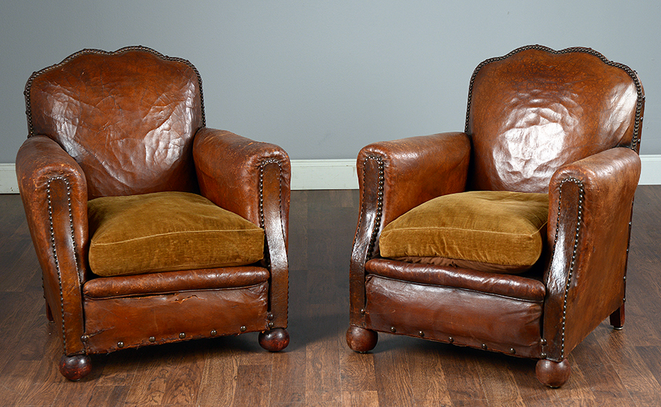 Among the latest antique acquisitions are a pair of French Pair of French  1930's Club Chairs - Two Vintage Pieces Which Demonstrate The Exquisite Character Of