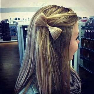 How to Style Your Own Half-up Hair Bow After a Haircut at ...