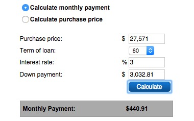 Used Car Down Payment Calculator >> Estimate Your Payment For New Used Cars With Ease At Burns