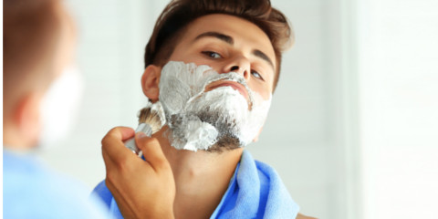 If The Shaving Cream Is Available At Your Home Coat Whole Surface Of Mirror Or Needed Part With It And You Are Supposed To Lather