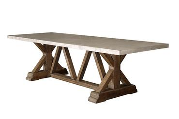 Trestle Base Concrete Dining Table