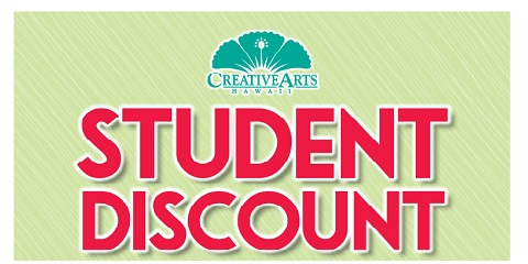 Student Discount: Creative Arts Hawaii offers deals on