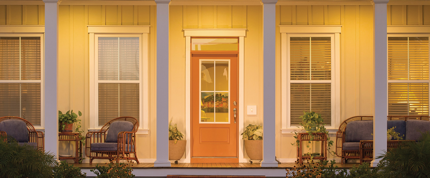 The most popular front door styles and designs marsh for Front window styles