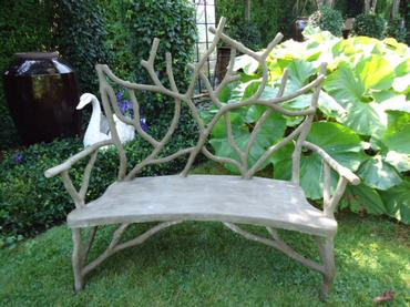 Small Branch Faux Bois Bench