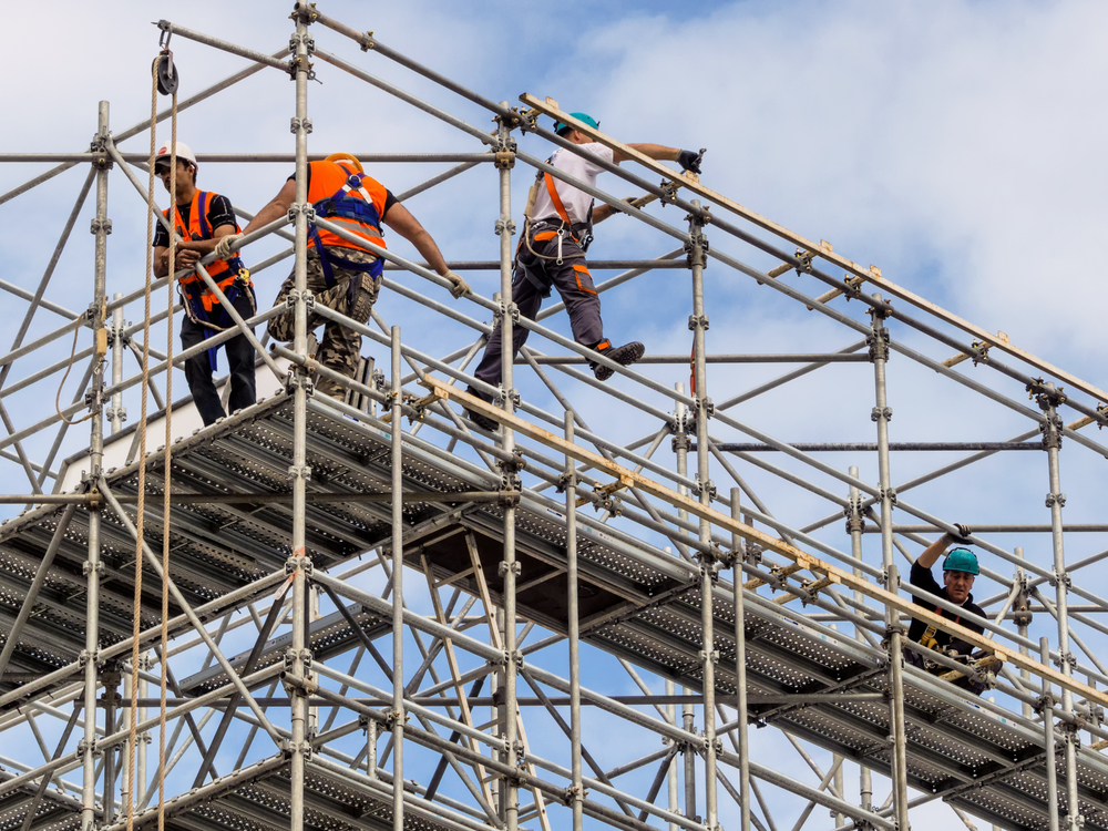 how to build temporary scaffolding