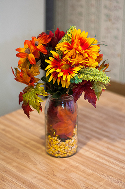 Exquisite fall wedding decoration ideas jordan hill farm red yellow centerpieces imagine thisbunches of orange daisies yellow lilies and deep greens tied with golden twine your guests will adore these junglespirit Choice Image