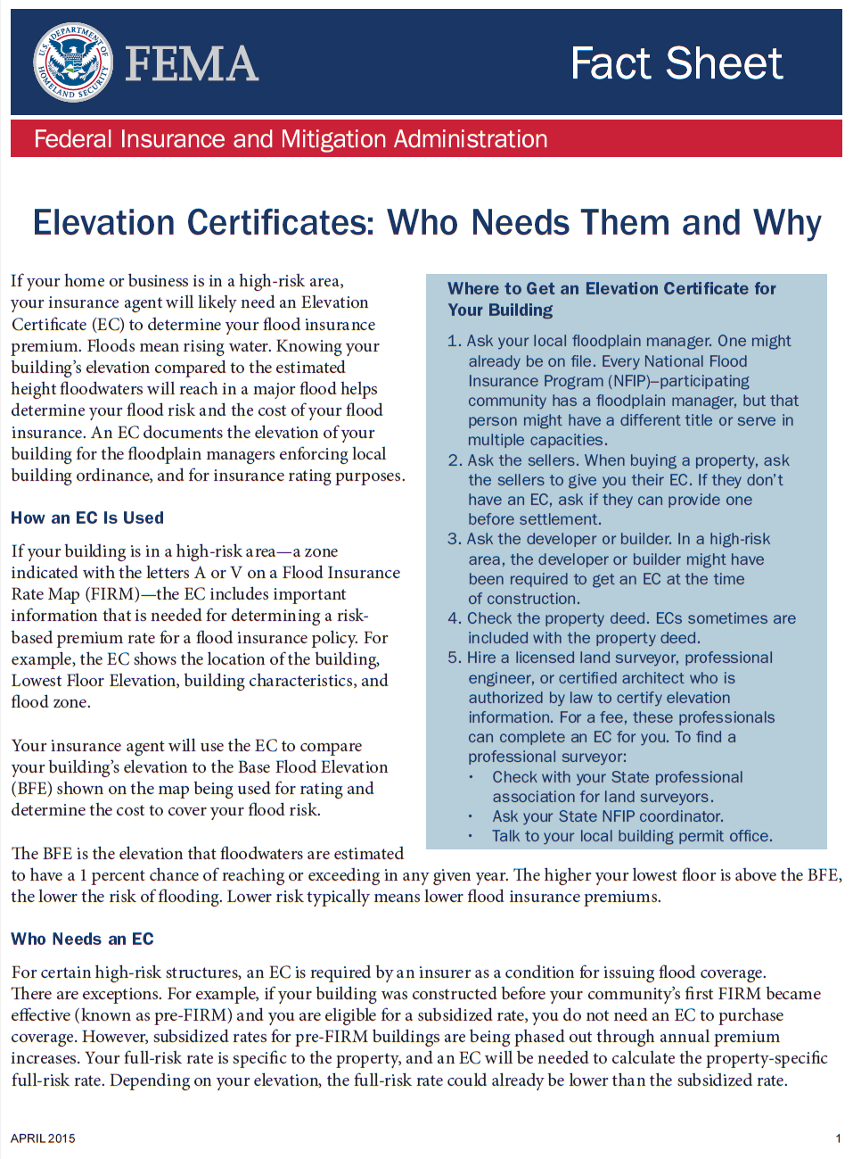 What Is An Elevation Certificate And Do You Need One? - Midland ...