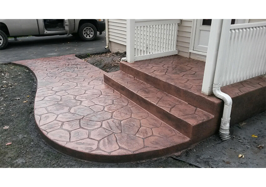 Renovating Your Entryway Use Stamped Concrete Palermo