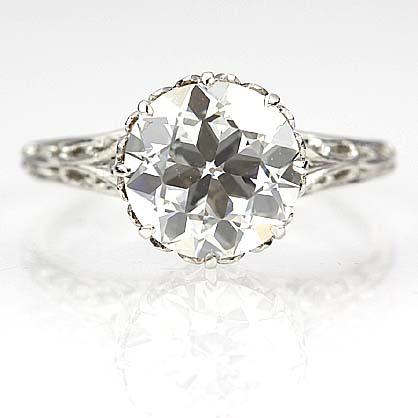 edwardian engagement ring - Estate Wedding Rings