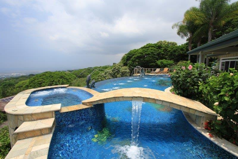 Swimming Pool Bridge Build : Water features that will enhance your swimming pool