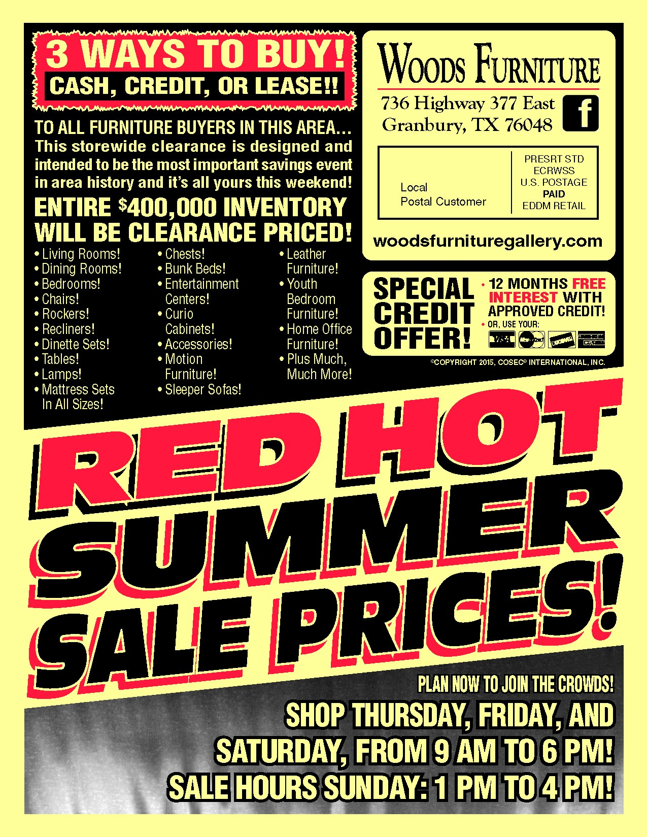 Take advantage of summer clearance and Labor Day sales at Woods Furniture  in Granbury TX. Woods Furniture Granbury Texas   penncoremedia com