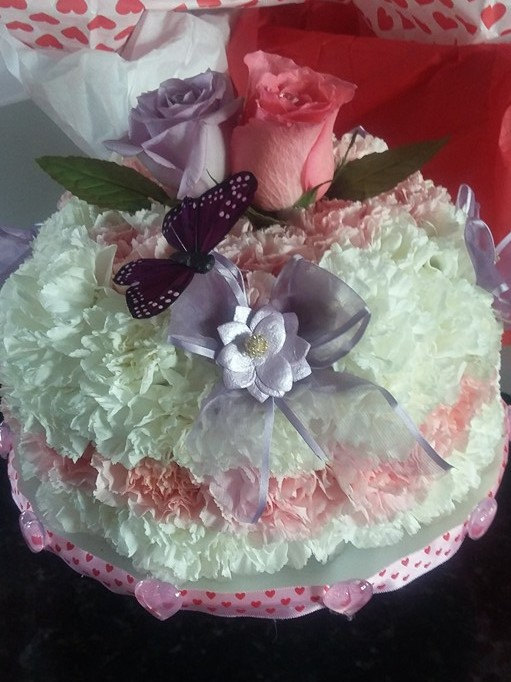 The Perfect Floral BouquetTopped Pound Cakes Edible Wedding